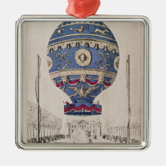 The Montgolfier Brothers' Balloon Experiment Christmas Ornament