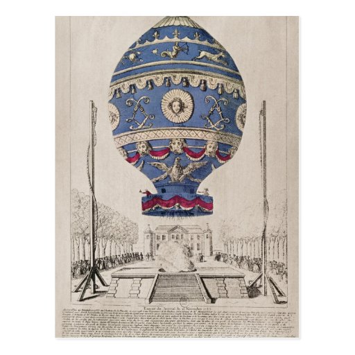 The Montgolfier Brothers' Balloon Experiment Post Cards