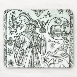 The month of April with astrological sun signs Mouse Mat