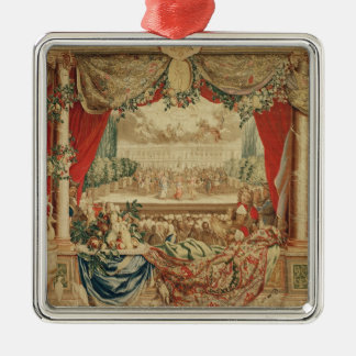 The Month of January/ The Louvre Silver-Colored Square Decoration