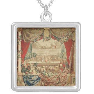 The Month of January/ The Louvre Silver Plated Necklace