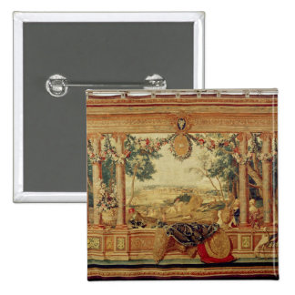 The Month of June/ Chateau of Fontainebleau 15 Cm Square Badge
