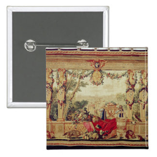 The Month of October/ Chateau of the Tuileries 15 Cm Square Badge