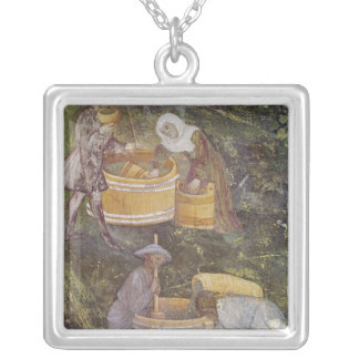 The Month of October Silver Plated Necklace