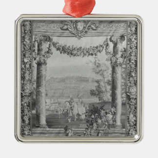 The Months or Royal Residences' tapestry Christmas Ornament