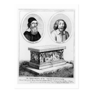 The Monument of the Tradescants in the Church Yard Postcard