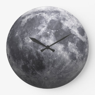 The Moon - 3D Effect Large Clock