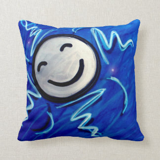 The moon all alone shining all night long pillow