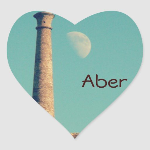 The Moon and a Tower: Aberystwyth Sticker