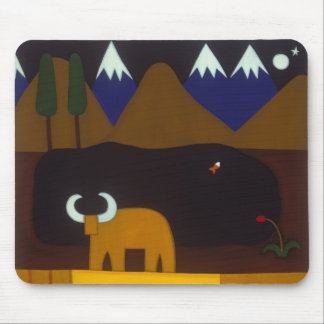 The Moon and the Bull in the Peruvian Mountains Mouse Pad