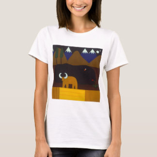 The Moon and the Bull in the Peruvian Mountains T-Shirt