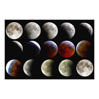 The Moon During a Full Lunar Eclipse Photo Art