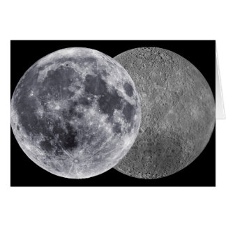 The Moon, Earth Side & Far Side Greeting Card