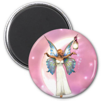 The Moon Faery 6 Cm Round Magnet