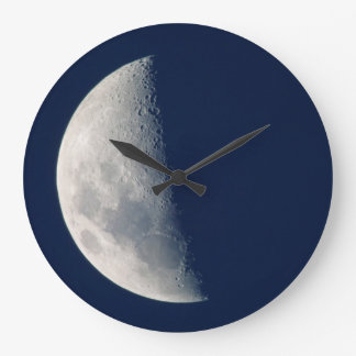 The Moon From Howick, Kwazulu-Natal Large Clock