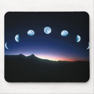 The Moon in phases mouse-mat Mouse Mat