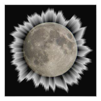 The moon, la lune, la luna, the moon poster photographic print