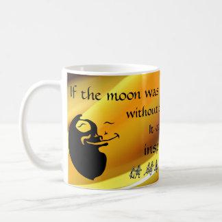 The Moon Loves the Sun - Bright Light Background Basic White Mug