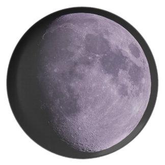 The Moon Melamine Plate