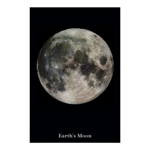 The Moon on a Field of Black Poster
