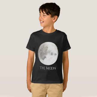 The Moon Planet Watercolor Kid's T T-Shirt