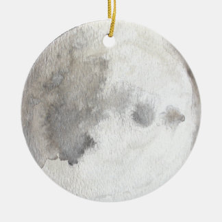 The Moon Planet Watercolor Ornament
