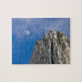 The moon rises and shines through the clouds puzzle