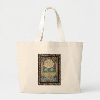 The Moon Tarot Card Large Tote Bag