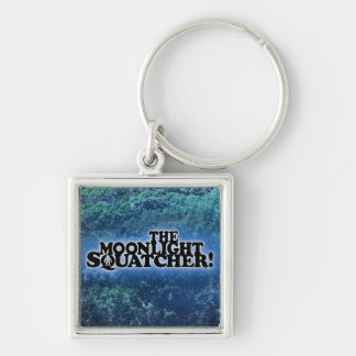 The Moonlight Squatcher - Multiple Products Silver-Colored Square Key Ring