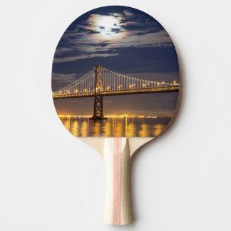 The moonrise tonight over the Bay Bridge