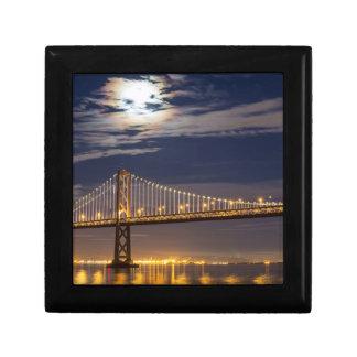 The moonrise tonight over the Bay Bridge Gift Box