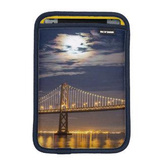 The moonrise tonight over the Bay Bridge iPad Mini Sleeve