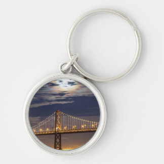 The moonrise tonight over the Bay Bridge Key Ring