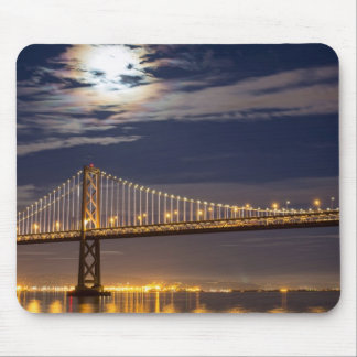 The moonrise tonight over the Bay Bridge Mouse Pad