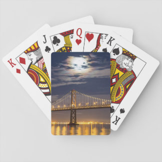 The moonrise tonight over the Bay Bridge Playing Cards