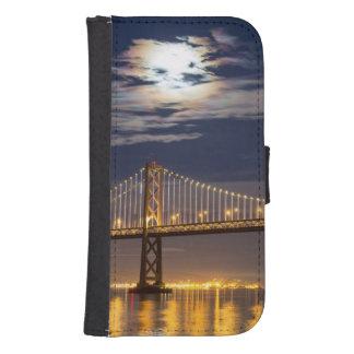 The moonrise tonight over the Bay Bridge Samsung S4 Wallet Case