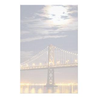 The moonrise tonight over the Bay Bridge Stationery