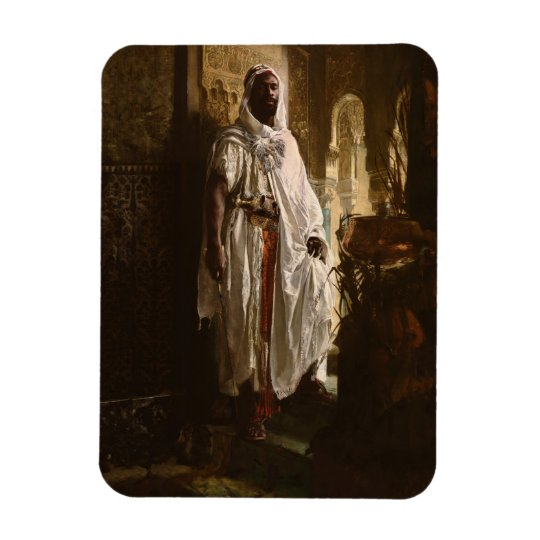 The Moorish Chief African Art Rectangular Photo Magnet
