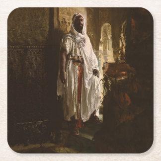 The Moorish Chief African Art Square Paper Coaster