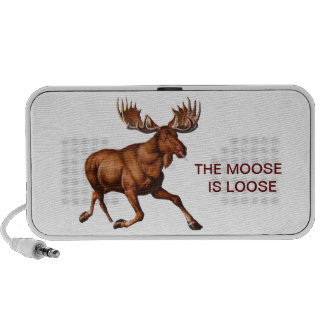 THE MOOSE IS LOOSE PORTABLE SPEAKERS