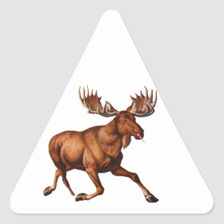THE MOOSE IS LOOSE TRIANGLE STICKER