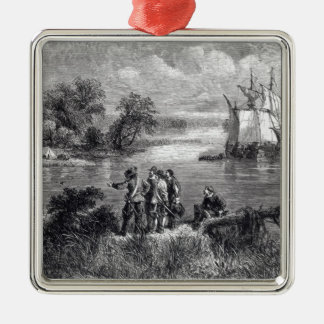 The Moravians Ascending the Delaware Christmas Ornament