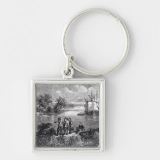 The Moravians Ascending the Delaware Key Ring