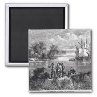 The Moravians Ascending the Delaware Magnet