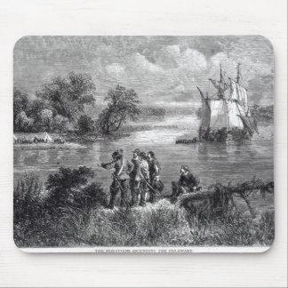 The Moravians Ascending the Delaware Mouse Mat