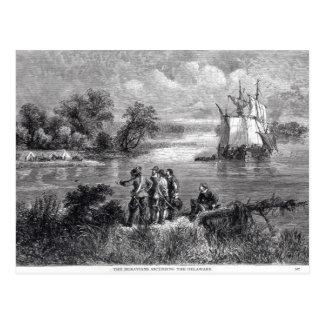 The Moravians Ascending the Delaware Postcard
