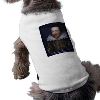 "The More I Give"" Shakespeare Love Quote Gifts/Tees Sleeveless Dog Shirt"