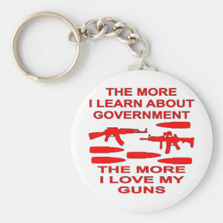 The More I Learn About Government The More I Love Keychains