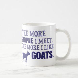 The More I Like Goats Basic White Mug