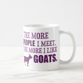 The More I Like Goats Coffee Mug